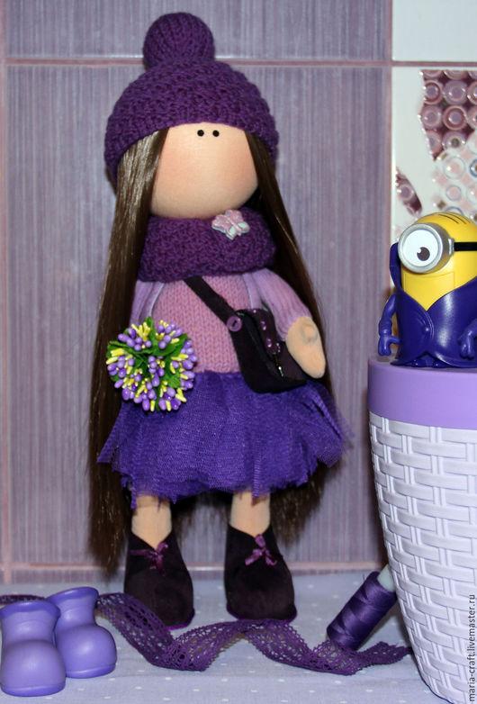 Коллекционные куклы ручной работы. Ярмарка Мастеров - ручная работа. Купить Интерьерная кукла ручной работы. Handmade. Фиолетовый