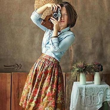 Одежда ручной работы. Ярмарка Мастеров - ручная работа Юбка Spring 60 см с карманами. Handmade.
