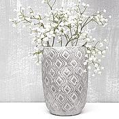 Для дома и интерьера handmade. Livemaster - original item Vases: Concrete vase Illusion with voluminous texture for the interior. Handmade.