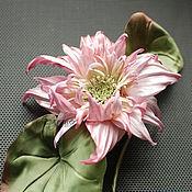 "Цветы и флористика handmade. Livemaster - original item Цветы из ткани. Цветы из шелка. Лотос ""Фемиан"". Handmade."