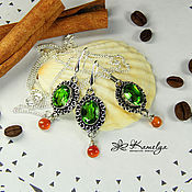 Украшения handmade. Livemaster - original item Set of earrings and necklace