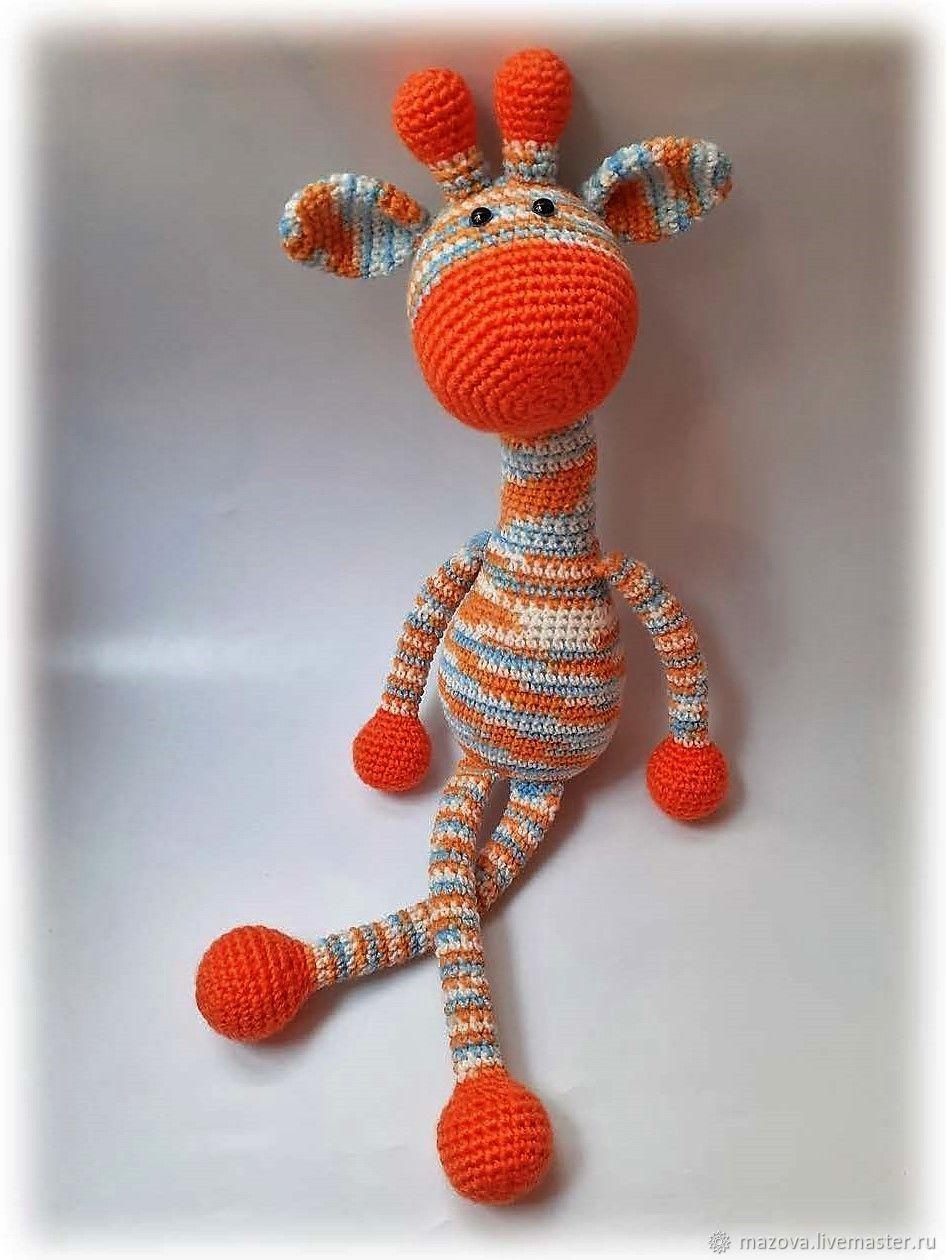 Вязаный жираф Апельсин, Мягкие игрушки, Химки,  Фото №1