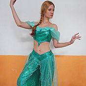 """Одежда handmade. Livemaster - original item Princess Jasmine """"The Aladdin"""". Animator-actor suit. Handmade."""