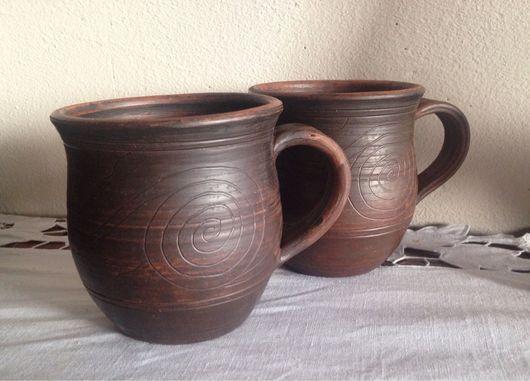Кружки и чашки ручной работы. Ярмарка Мастеров - ручная работа. Купить Чашки керамические.. Handmade. Глина, посуда, кружка для чая