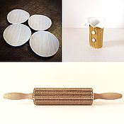 Для дома и интерьера handmade. Livemaster - original item KNITTING 2 - engraved rolling pin. Handmade.