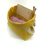 Органайзеры ручной работы. Ярмарка Мастеров - ручная работа Сумка для вязания с кольцом для маркеров и карманами Project bag. Handmade.
