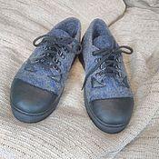 Обувь ручной работы. Ярмарка Мастеров - ручная работа Кеды валяные женские. Handmade.