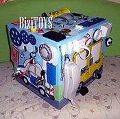 Куклы и игрушки ручной работы. Ярмарка Мастеров - ручная работа Бизибокс, бизиборд в кубе. Handmade.