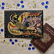 """Обложки ручной работы. Ярмарка Мастеров - ручная работа Обложка на паспорт """"Жар-птица"""". Handmade."""