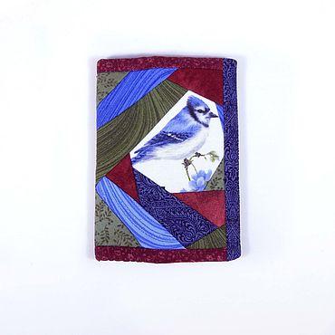 """Канцелярские товары ручной работы. Ярмарка Мастеров - ручная работа Обложки: Обложка для паспорта """"Синяя птица"""". Handmade."""