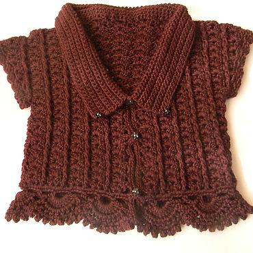 Clothing handmade. Livemaster - original item Vest shortened for girls Warm openwork. Handmade.