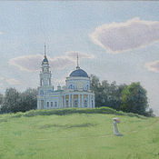 Pictures handmade. Livemaster - original item Landscape watercolor Moscow Estate Bove artist Ulumbekov. Handmade.