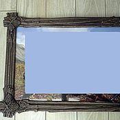 """Сувениры и подарки ручной работы. Ярмарка Мастеров - ручная работа Рама для фотографий, картины из массива дерева """"Ветки с шишками"""". Handmade."""