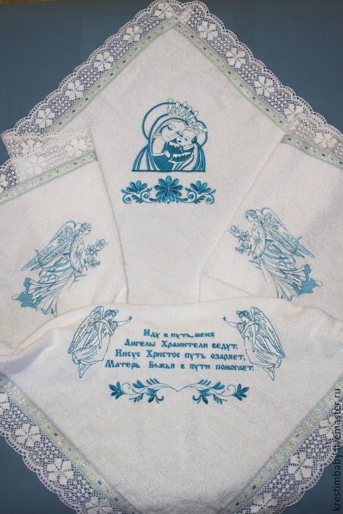 Baptismal Terry cloth diaper, Сhristening diaper, Moscow,  Фото №1