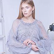 Одежда ручной работы. Ярмарка Мастеров - ручная работа Блуза из натурального шелка. Handmade.