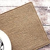 Свадебный салон handmade. Livemaster - original item Support under hot from a jute knitted on the basis of, lunchmath. Handmade.
