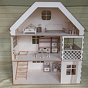 Куклы и игрушки handmade. Livemaster - original item Three-story Dollhouse with furniture. Handmade.