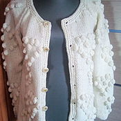 Одежда handmade. Livemaster - original item Knitted cardigan with bobble. Handmade.