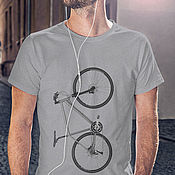 Одежда handmade. Livemaster - original item T-Shirt Bicycle. Handmade.