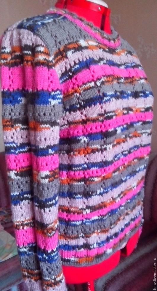 """Кофты и свитера ручной работы. Ярмарка Мастеров - ручная работа. Купить Пуловер """"Полоски"""". Handmade. Свитер, свитер ручной вязки"""