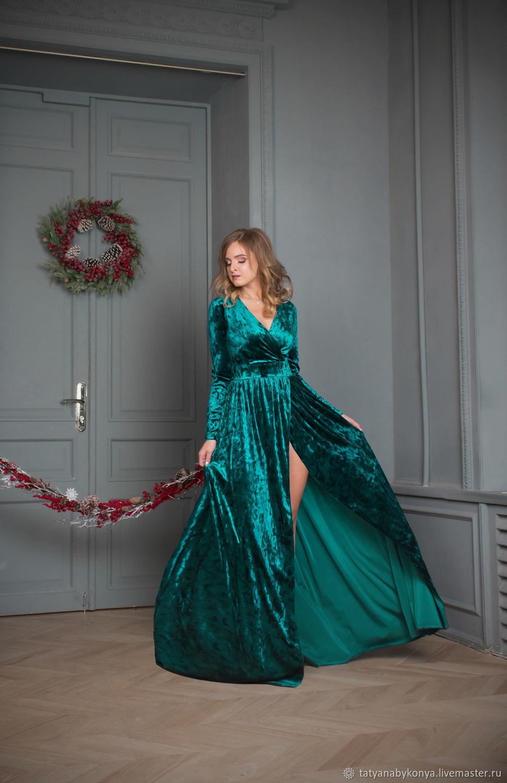 платье изумрудного цвета купить интернет