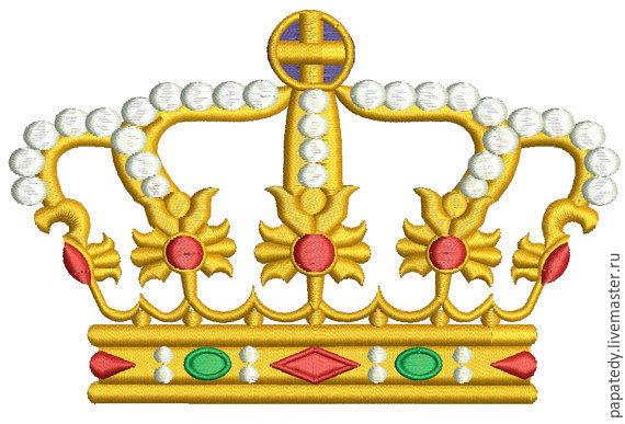 четыре короны  дизайн машинной вышивки, Иллюстрации, Кишинев,  Фото №1