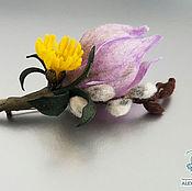 """Украшения ручной работы. Ярмарка Мастеров - ручная работа Брошь """"Первые цветы"""" войлок. Handmade."""