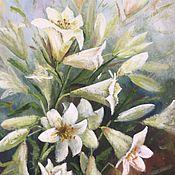 Картины и панно ручной работы. Ярмарка Мастеров - ручная работа Белые лилии. Handmade.