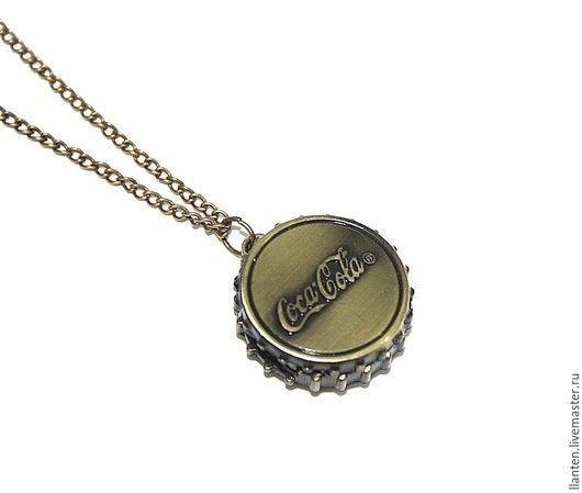 """Для украшений ручной работы. Ярмарка Мастеров - ручная работа. Купить Часы - подвеска """"Coca-Cola"""". Handmade. Хаки, подвеска"""