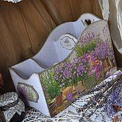 """Для дома и интерьера ручной работы. Ярмарка Мастеров - ручная работа """"Лиловый перезвон""""  подставка под специи. Handmade."""