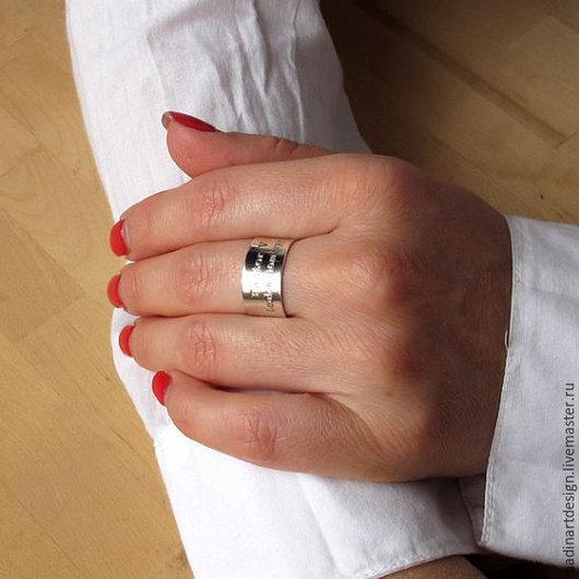 Широкое кольцо на заказ