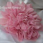 Украшения ручной работы. Ярмарка Мастеров - ручная работа Цветы из шелка. Каламбур розовый. Handmade.