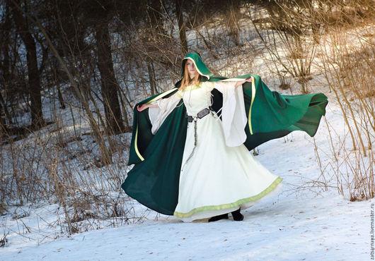Карнавальные костюмы ручной работы. Ярмарка Мастеров - ручная работа. Купить СРЕДНИЕ ВЕКА. Handmade. Тёмно-зелёный, средневековое платье