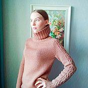 Свитеры ручной работы. Ярмарка Мастеров - ручная работа Вязаный женский свитер Карамель 100% шерсть. Handmade.
