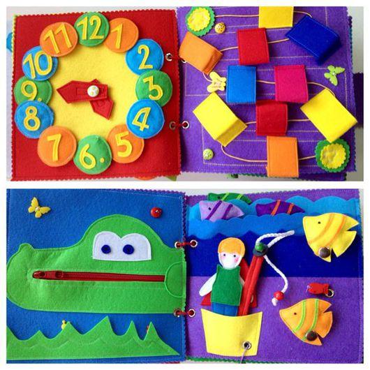 Развивающие игрушки ручной работы. Ярмарка Мастеров - ручная работа. Купить Развивающая книжка из фетра. Handmade. Развивающая игрушка