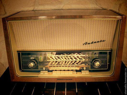 Электроника. Ярмарка Мастеров - ручная работа. Купить Telefunken Andante 8. Handmade. Бежевый, ретро, антиквариат, пластмасса