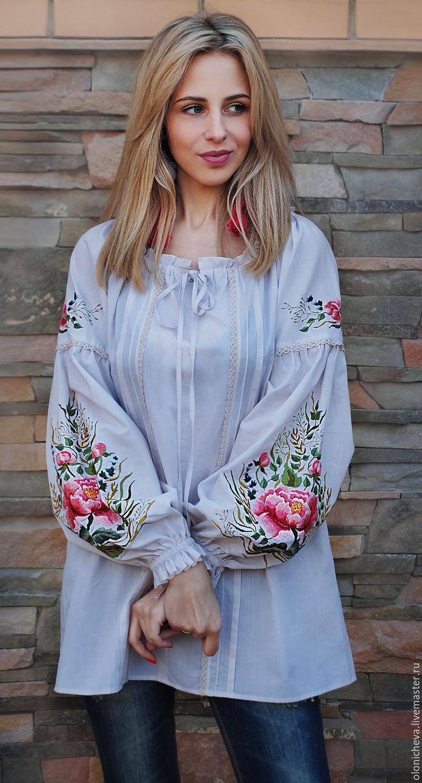 Красивая блузка с цельнокроеными 63