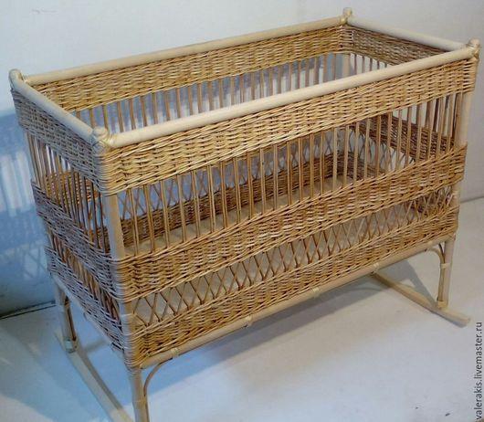 Мебель ручной работы. Ярмарка Мастеров - ручная работа. Купить Кроватка детская. Handmade. Детская мебель, ивовая лоза