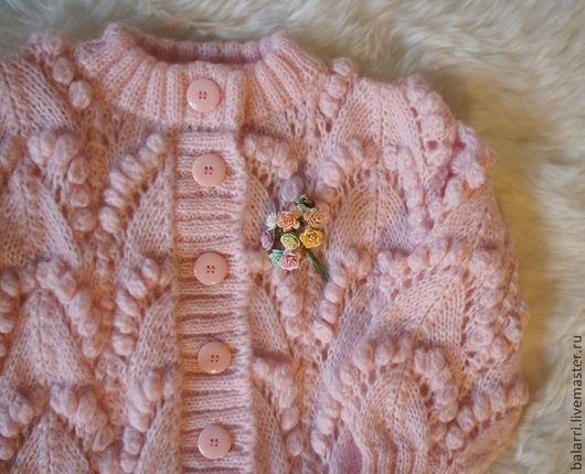 """Одежда для девочек, ручной работы. Ярмарка Мастеров - ручная работа. Купить Жакет для девочки """"Сахарная вата"""".. Handmade. Жакетик"""