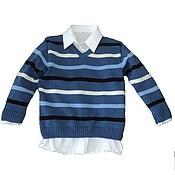 Работы для детей, ручной работы. Ярмарка Мастеров - ручная работа Пуловер для мальчика. Handmade.