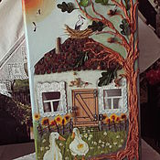 Русский стиль handmade. Livemaster - original item Suitcase-a house in the village. Handmade.