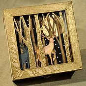 """Для дома и интерьера ручной работы. Ярмарка Мастеров - ручная работа Шкатулка  """"Сказочный лес"""". Handmade."""