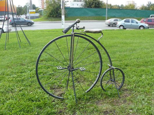 Экстерьер и дача ручной работы. Ярмарка Мастеров - ручная работа. Купить Скульптура Ретро велосипед. Handmade. Скульптура, скульптуры из металла