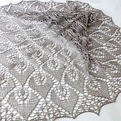 Аксессуары handmade. Livemaster - original item Openwork knitted Silk shawl, summer shawl knitting. Handmade.