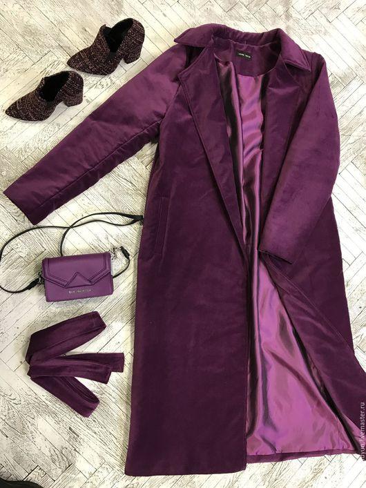 Верхняя одежда ручной работы. Ярмарка Мастеров - ручная работа. Купить Пальто бархатное. Handmade. Зеленый, пуховик на синтепоне, бархат