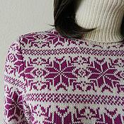 Одежда ручной работы. Ярмарка Мастеров - ручная работа Свитер удлиненный Норвегия. Handmade.
