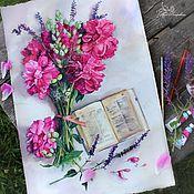 Картины и панно ручной работы. Ярмарка Мастеров - ручная работа Пионы. Handmade.