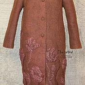 Одежда ручной работы. Ярмарка Мастеров - ручная работа Демисезонное двухстороннее валяное пальто Felted Coat. Handmade.