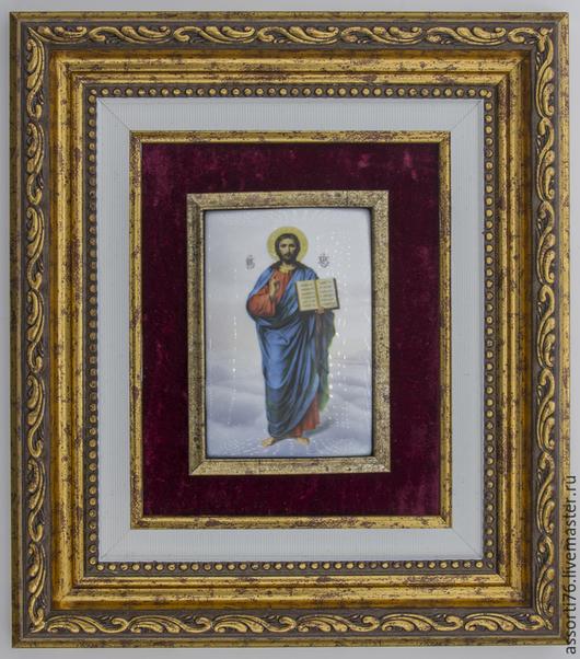 Иконы ручной работы. Ярмарка Мастеров - ручная работа. Купить Икона Иисус Христос Вседержитель-финифть. Handmade.