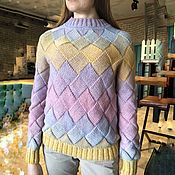 Одежда handmade. Livemaster - original item Knitted women`s sweater watercolor. Handmade.
